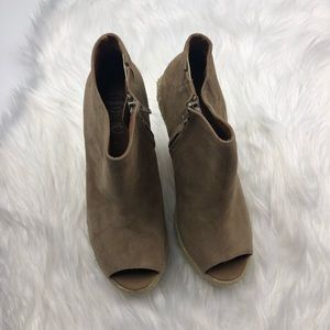 Jeffrey Campbell Shoes - Jeffrey Campbell Suede Espadrille Wedge Booties